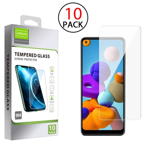 Airium Tempered Glass Screen Protector (2.5D)(10-pack) for Samsung Galaxy A21 - Clear