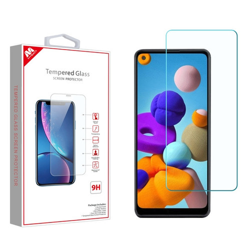 MyBat Tempered Glass Screen Protector (2.5D) for Samsung Galaxy A21 - Clear