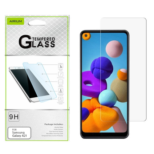 Airium Tempered Glass Screen Protector (2.5D) for Samsung Galaxy A21 - Clear