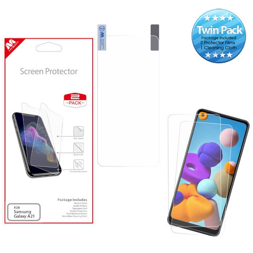 MyBat Screen Protector Twin Pack for Samsung Galaxy A21 - Clear