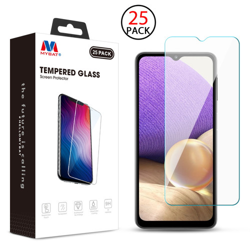MyBat Tempered Glass Screen Protector (2.5D)(25-pack) for Samsung Galaxy A32 5G - Clear