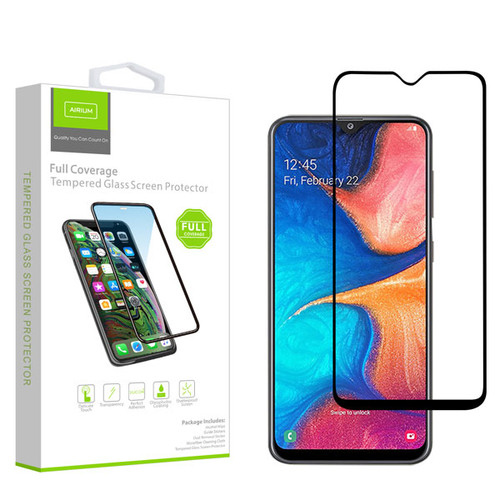 Airium Full Coverage Tempered Glass Screen Protector for Samsung Galaxy A50 / Galaxy A20 - Black