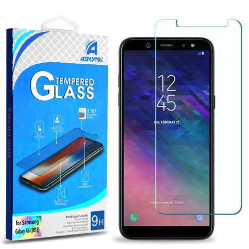 Asmyna Tempered Glass Screen Protector (2.5D) for Samsung Galaxy A6 (2018) - Clear