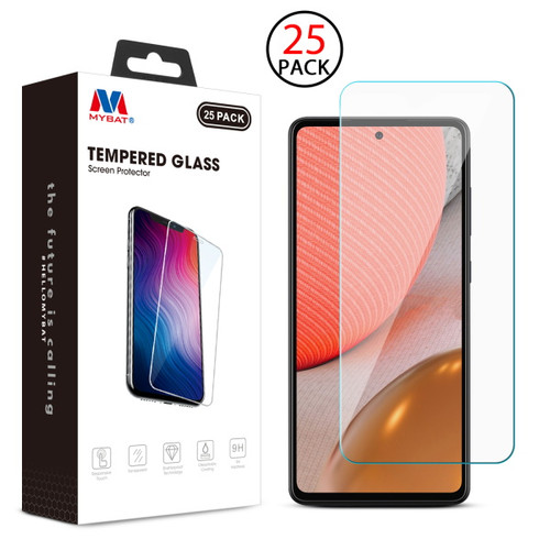 MyBat Tempered Glass Screen Protector (2.5D)(25-pack) for Samsung Galaxy A72 5G - Clear