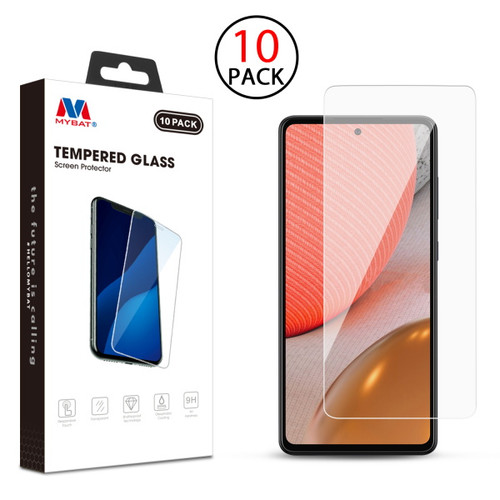 MyBat Tempered Glass Screen Protector (2.5D)(10-pack) for Samsung Galaxy A72 5G - Clear