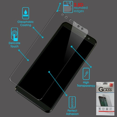 Airium Tempered Glass Screen Protector (2.5D) for Samsung Galaxy A8 (2018) - Clear