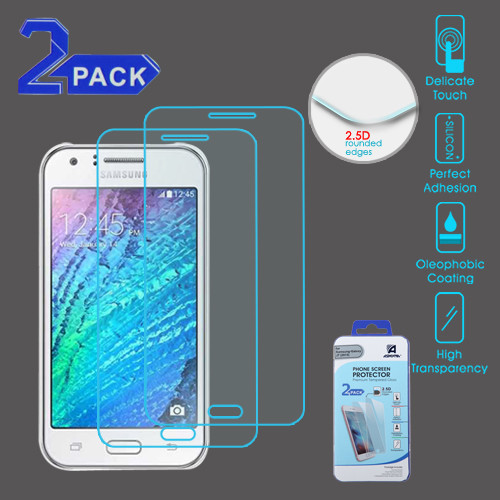 Asmyna Tempered Glass Screen Protector (2.5D)(2-pack) for Samsung Galaxy J7 (2015) / Galaxy J7 (2016) - Clear