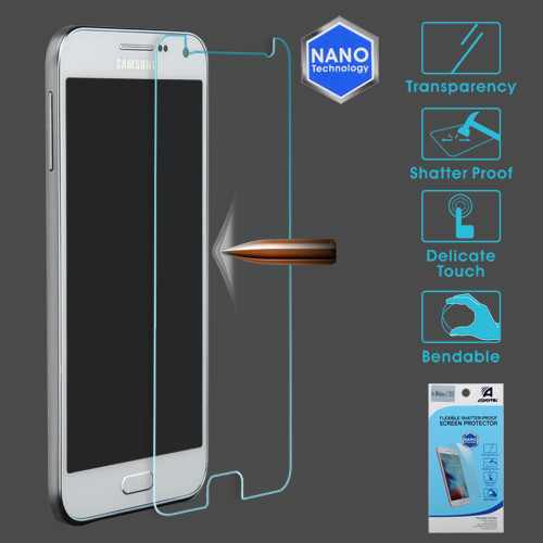 Asmyna Flexible Shatter-Proof Screen Protector for Samsung Galaxy J7 (2015) - Clear