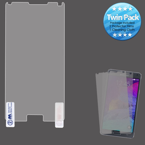 MyBat Screen Protector Twin Pack for Samsung Galaxy Note 4 - Clear