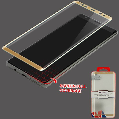 MyBat Full Coverage Tempered Glass Screen Protector for Samsung Galaxy Note 8 - Gold