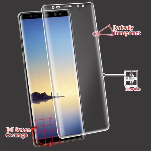 MyBat Screen Protector (with Curved Coverage) for Samsung Galaxy Note 8 - Clear