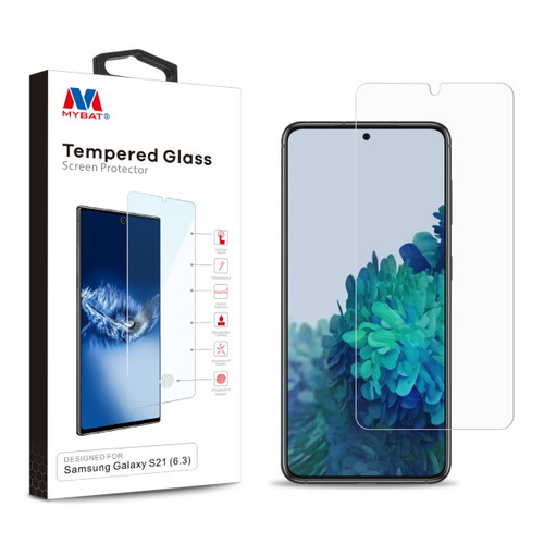 MyBat Tempered Glass Screen Protector (2.5D) for Samsung Galaxy S21 - Clear