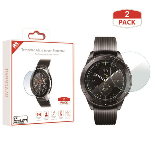 MyBat Tempered Glass Screen Protector (2.5D)(2-pack) for Samsung Galaxy Watch (46mm) - Clear