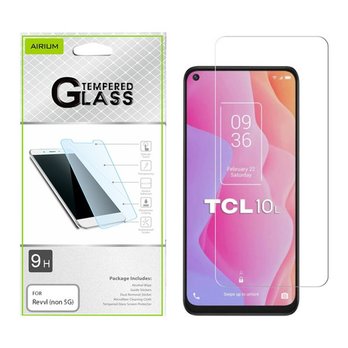Airium Tempered Glass Screen Protector (2.5D) for T-mobile Revvl (non 5G) / TCL 10 5G UW - Clear