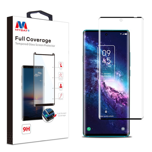 MyBat Full Coverage Tempered Glass Screen Protector for T-mobile TCL 20 Pro 5G - Black