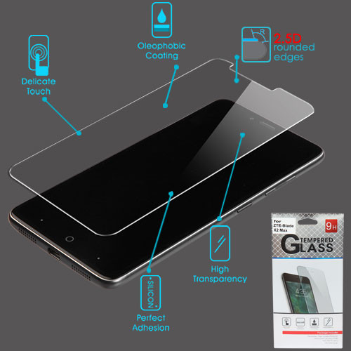 Airium Tempered Glass Screen Protector (2.5D) for Zte Blade X2 Max - Clear