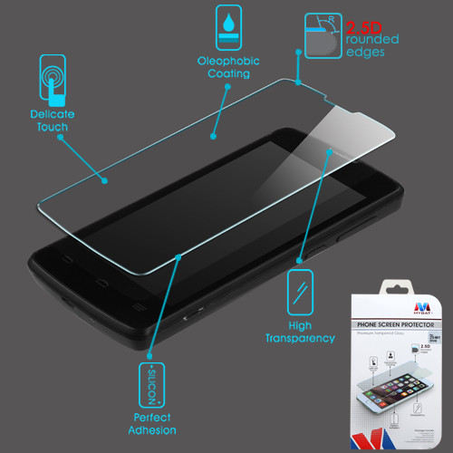 MyBat Tempered Glass Screen Protector (2.5D) for Zte N817 (Uhura) - Clear
