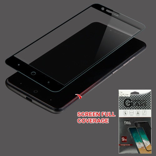 Airium Full Coverage Tempered Glass Screen Protector for Zte Sequoia / Z982 (Blade Z Max) - Black