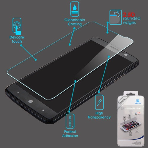 Asmyna Tempered Glass Screen Protector (2.5D) for Zte Sequoia / Z982 (Blade Z Max) - Clear