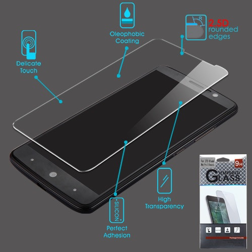 Airium Tempered Glass Screen Protector (2.5D) for Zte Sequoia / Z982 (Blade Z Max) - Clear