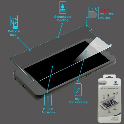 Asmyna Tempered Glass Screen Protector (2.5D) for Zte Z839 (Blade Vantage)/Tempo Go / Fanfare 3 - Clear