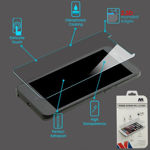 MyBat Tempered Glass Screen Protector (2.5D) for Zte Z839 (Blade Vantage)/Tempo Go / Fanfare 3 - Clear