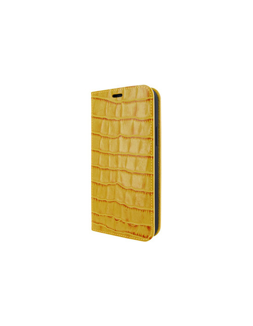 Piel Frama 860 Yellow Crocodile FramaSlimCards Leather Case for Apple iPhone 12 Pro Max
