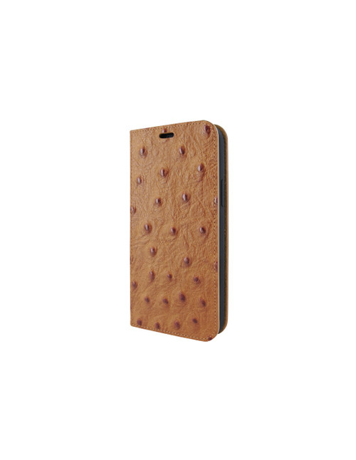 Piel Frama 860 Tan Ostrich FramaSlimCards Leather Case for Apple iPhone 12 Pro Max
