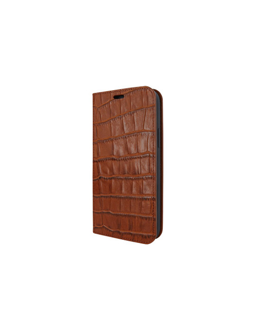 Piel Frama 855 Brown Crocodile FramaSlimCards Leather Case for Apple iPhone 12 / iPhone 12 Pro
