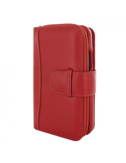 Piel Frama 872 Red ZipperWallet Leather Case for Apple iPhone 12 / iPhone 12 Pro