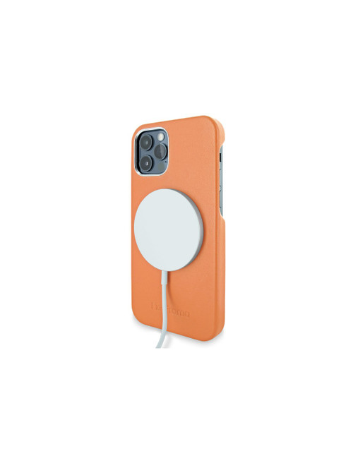 Piel Frama 879 Orange FramaSlimGrip with MagSafe Leather Case for Apple iPhone 12 / iPhone 12 Pro