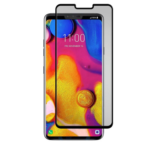 Gadget Guard - Black Ice Cornice Curved Glass Screen Protector for LG V40 ThinQ  /  V50 ThinQ - Clear