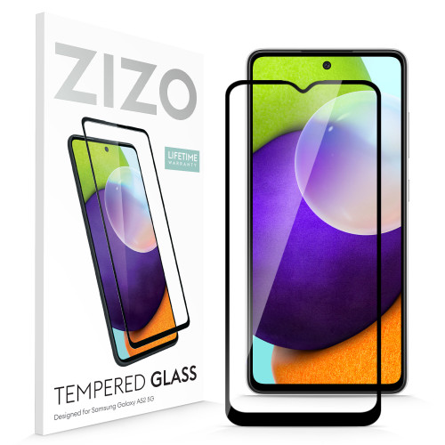 ZIZO TEMPERED GLASS Screen Protector for Galaxy A52 5G Full Glue Clear Screen Protector with Anti Scratch and 9H Hardness - Black GLSHD-SAMGA52-BLK