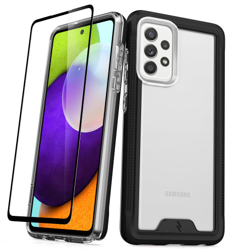 ZIZO ION Series for Galaxy A52 5G Case - Military Grade Drop Tested with Tempered Glass Screen Protector - Black Smoke IONC-SAMGA52-BKSM