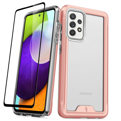 ZIZO ION Series for Galaxy A52 5G Case - Military Grade Drop Tested with Tempered Glass Screen Protector - Rose Gold IONC-SAMGA52-RGDCL