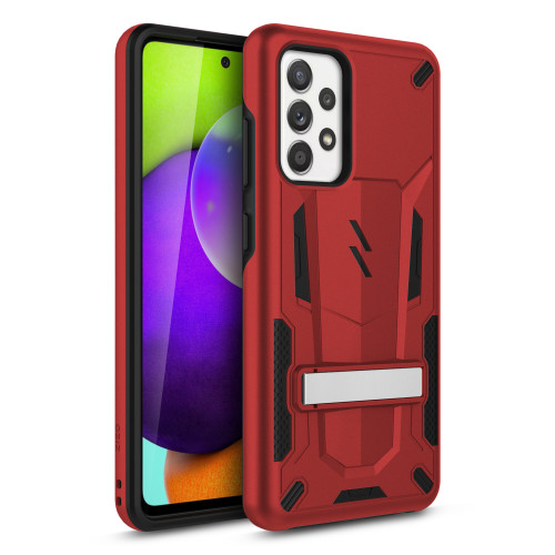 ZIZO TRANSFORM Series for Galaxy A52 5G Case - Rugged Dual-layer Protection with Kickstand - Red TFM-SAMGA52-RDBK