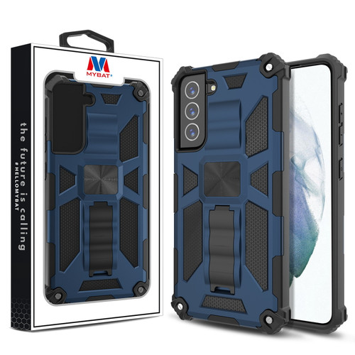 MyBat Sturdy Hybrid Protector Cover (with Stand) for Samsung Galaxy S21 Fan Edition - Ink Blue / Black