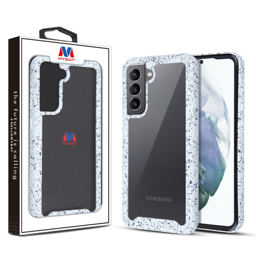 MyBat Splash Hybrid Case for Samsung Galaxy S21 Fan Edition - Highly Transparent Clear / White