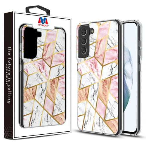 MyBat Fusion Protector Cover for Samsung Galaxy S21 Fan Edition - Electroplated Pink Marbling