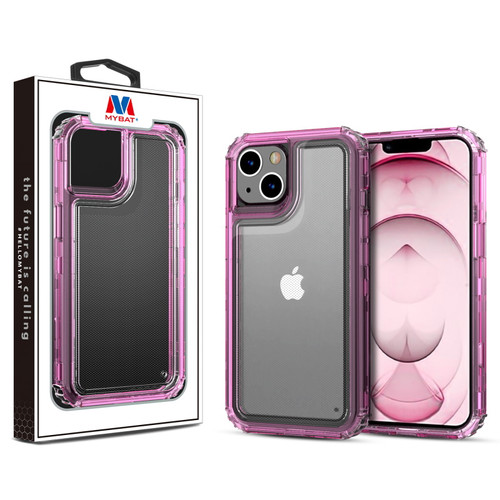 MyBat Hybrid Protector Cover for Apple iPhone 13 (6.1) - Transparent Pink / Transparent Clear