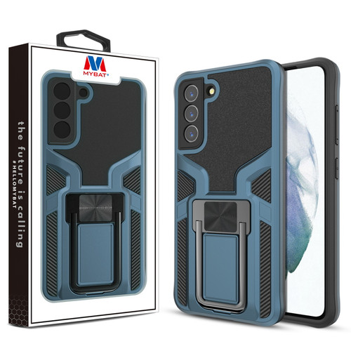 MyBat Hybrid Protector Case (with Ring Stand) for Samsung Galaxy S21 Fan Edition - Blue / Black