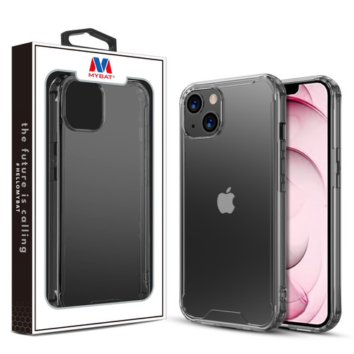 MyBat Sturdy Gummy Cover for Apple iPhone 13 (6.1) - Highly Transparent Clear / Transparent Clear