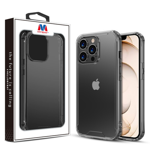 MyBat Sturdy Gummy Cover for Apple iPhone 13 Pro (6.1) - Highly Transparent Clear / Transparent Clear