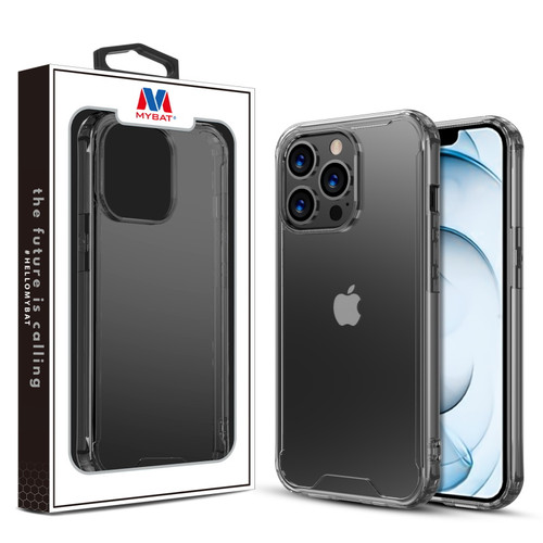 MyBat Sturdy Gummy Cover for Apple iPhone 13 Pro Max (6.7) - Highly Transparent Clear / Transparent Clear