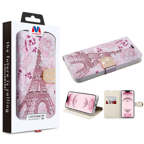 MyBat MyJacket Wallet Diamond Series for Apple iPhone 13 (6.1) - Eiffel Tower