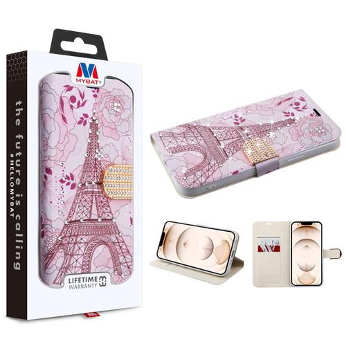 MyBat MyJacket Wallet Diamond Series for Apple iPhone 13 Pro (6.1) - Eiffel Tower