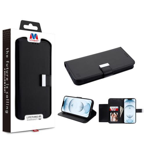 MyBat MyJacket Wallet Xtra Series for Apple iPhone 13 Pro Max (6.7) - Black / Black