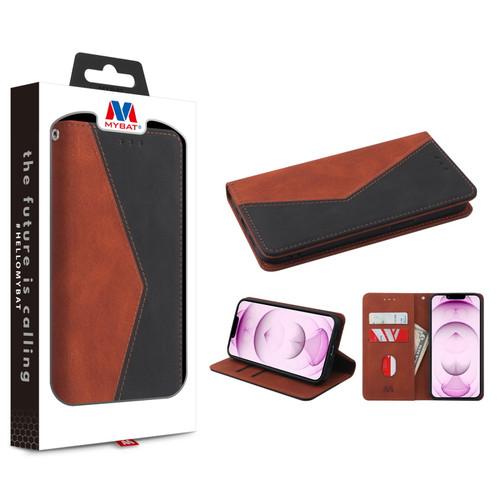 MyBat Splicing MyJacket Wallet for Apple iPhone 13 mini (5.4) - Brown / Black