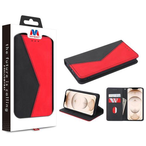 MyBat Splicing MyJacket Wallet for Apple iPhone 13 Pro (6.1) - Black / Red