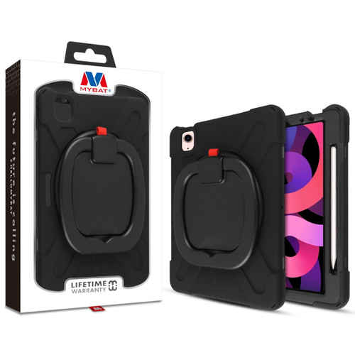 MyBat Rotatable Stand Shockproof Protector Cover for Apple iPad Air 10.9 (2020)/iPad Pro 11 (2020) / iPad Pro 11 (2021) - Black / Black